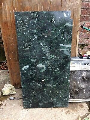 Reclaimed Large slab dark green Marble 90 x 46 x 2 cm