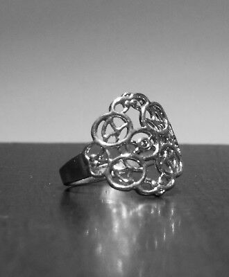 Celtic Antique Sterling Silver Stamped .925 Size 9 Thick Quality Ring