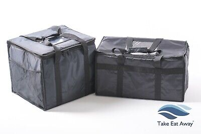2 Delivery Rider Bags Durable Strong Insulated Food Deliveries Catering BagT8/17