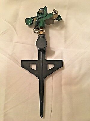 Vintage Metal Lawn Garden Sprinkler, Made In Taiwan.