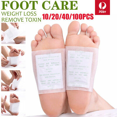 10-200PCS Detox Kinoki Foot Patch Pad Natural plant Herbal Toxin Removal Weight