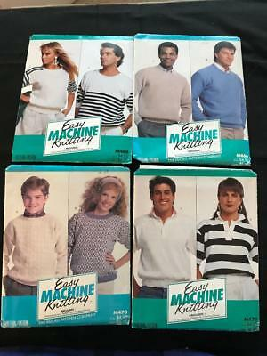 #158 BROTHER KNITTING MACHINE McCALL EASY MACHINE KNITTING PATTERNS PACKS X 4