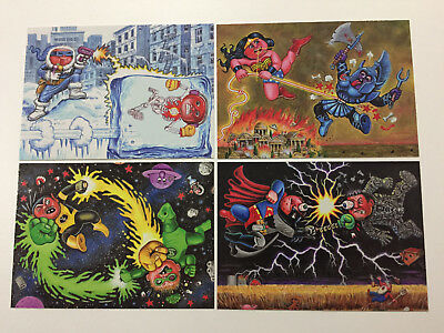 2014 USA Garbage Pail Kids Series 2 COMPLETE Battles Set - 4 Card Chase Set