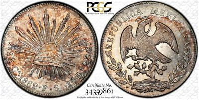 1882-Ga FS Mexico 8 Reales AU55 PCGS with Trueview and Great Color-VDB Coins