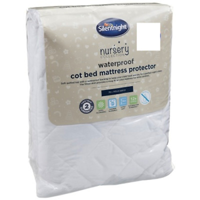 New Silentnight Waterproof Cot Bed Mattress Protector Protection Toddler Baby