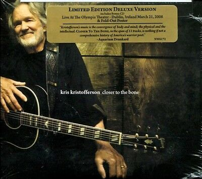 KRIS KRISTOFFERSON Closer to the Bone (CD, 2009, New West) DELUXE EDITION SEALED