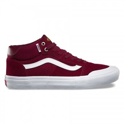 633dcefadae VANS STYLE 112 Mid Pro Burgundy White Men s Classic Skate Shoes Size ...