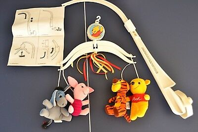 Vintage Disney Winnie the Pooh Musical Mobile Stuffed Animal Baby Nursery Sears
