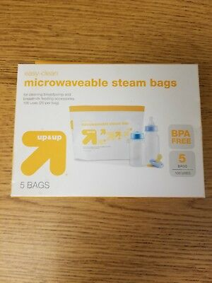 Up And Up Easy Clean Microwave Steam Bags 5 100 Uses Breastfeeding Bottles