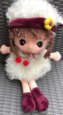 47cm Rag Doll With Hat /Soft Plush Doll White Every Girl would love one