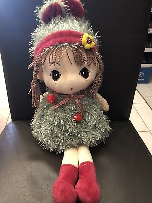 47cm Rag Doll With Hat / Soft Plush Doll Green Every girl would love one