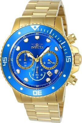 Invicta 21894 Gent's Chrono Blue Dial Yellow Gold Steel Dive Watch
