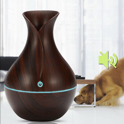 USB LED Ultrasonic Air Humidifier Essential Aroma Oil Diffuser Purifier Atomizer