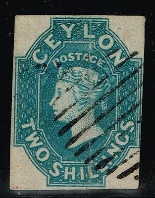 Ceylon SG# 12 - Used - (Light Vert Crease) - Lot 80915