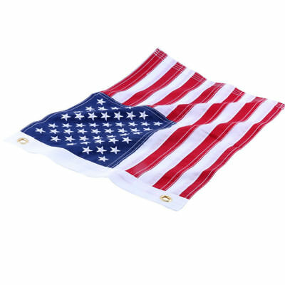1 PC 12x18inch Yacht Boat Ensign Nautical USA US American Flag Sewn Embroidered