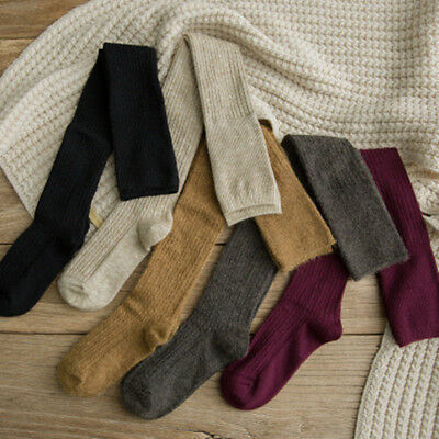 Warm Winter Women Wool Cashmere Over Knee Thigh-High Thick Solid Boot Socks