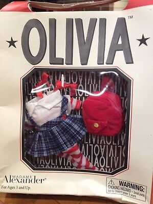 Rare Madame Alexander Olivia The Pig 2002 SCHOOL GIRL OUTFIT SET Retired