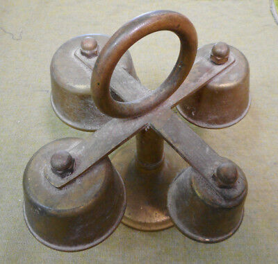 #Bb7.  Brass  Dinner  Bell Stand - 4 Different Sizes