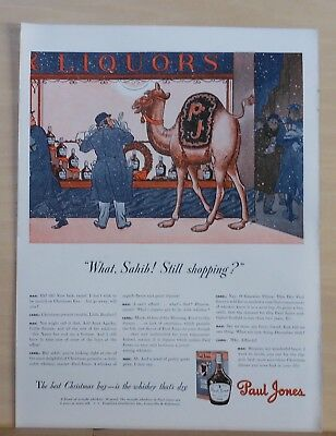 1941 magazine ad for Paul Jones Whiskey - Camel suggests Christmas gifts