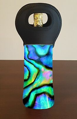 Paua Abalone Personalised Wine Bottle Cooler Carry Bag