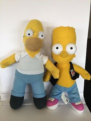 The Simpsons - Homer Simpson and Bart Simpson 2006 Soft Plush 30CM each