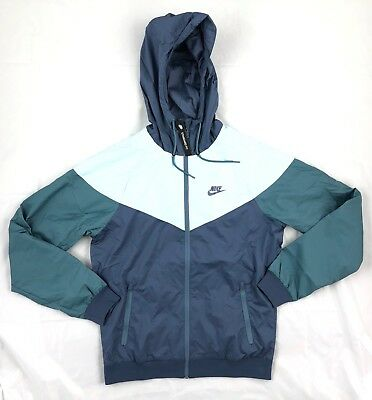 27be000715 Nike Windrunner Full Zip Jacket Light Blue Navy Dark Green 727324-491 Men s  ...