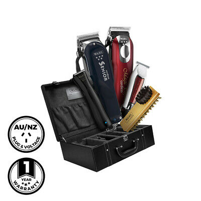 Wahl Ultimate Complete Barber Case Senior Magic Clip T-Wide Beret and Brush
