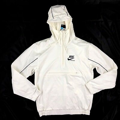 c598fa6d1e80 Nike Archive Woven Half Zip Jacket White Navy Blue 941877-133 Men s S-XXL
