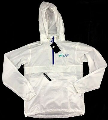 f17f0a7b67d2 Nike SB Packable Anorak Half Zip Jacket White Blue Green 886110-100 Men s  S-M