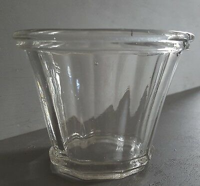 Ancien pot à confiture verre conique Antique glass jam pot jar N°5