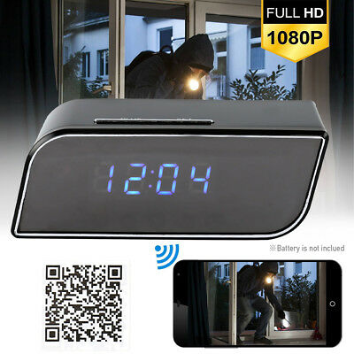 HD 1080P Wireless Wifi IP Spy Hidden Camera Motio Detection Alarm Clock IR Cam