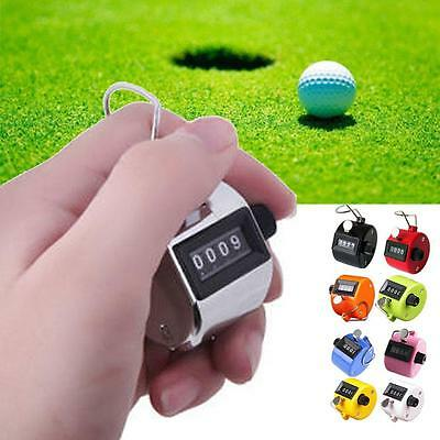 Mini 4 Digit Hand Held Tally Manual Click Counter Pressing Manual Golf Count BE