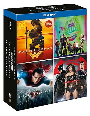 Blu-Ray Dc Movies Boxset (4 Blu-Ray) 2017 Film - Azione/Avventura Warner Home Vi