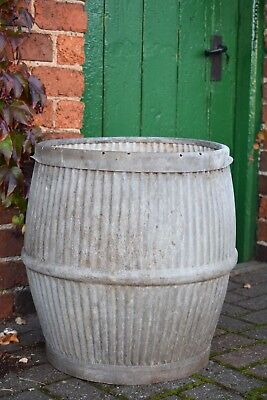 Vintage Dolly Tub Galvanised old garden reclaimed trough pot bath planter tin  .