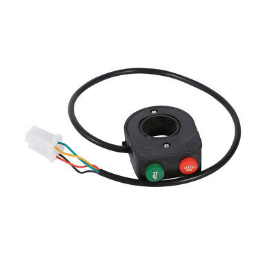 """Universal Motorcycle 7/8"""" Handlebar Horn Head Light On/Off Button Switch Black"""