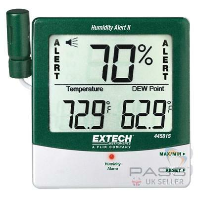 *NEW* Genuine Extech 445815 Hygro Thermometer Humidity Alert with Dew Point / UK