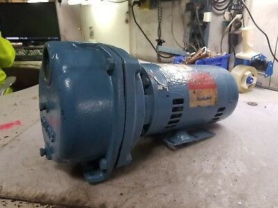 "REBUILT GOULDS 3 HP WATER WELL JET PUMP 208-220/440 VAC 3450 RPM 1.5"" x 2"" XSH33"