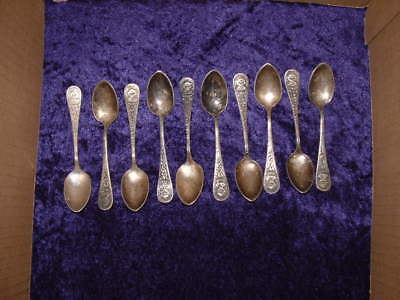 1892 WORLDS FAIR COLUMBUS SILVERPLATE SOUVENIR SPOONS 9 available