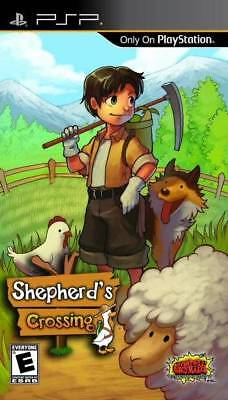 SHEPHERD'S CROSSING Farming Simulation Build Plant Grow Simple Life Sim PSP NEW