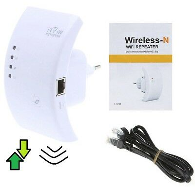 Ripetitore Wi-Fi Extender Wireless Wps Ieee 802.11 N Wlan Lan 2.4 Ghz Wireless