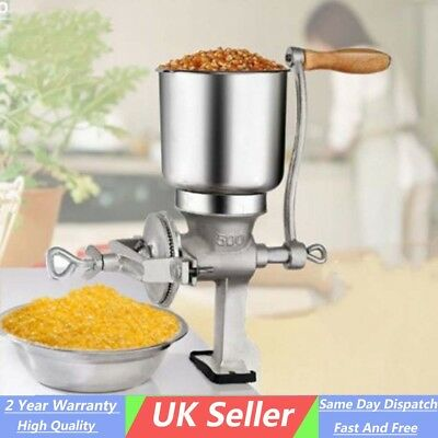 Home Metal Corn Mill Grinder Manual Hand Crank Grains Oats Coffee Nuts Kitchen
