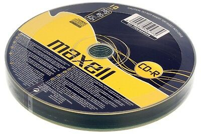 10 Maxell CD-R Recordable Blank Discs BULK SHRINK WRAPPED Pack