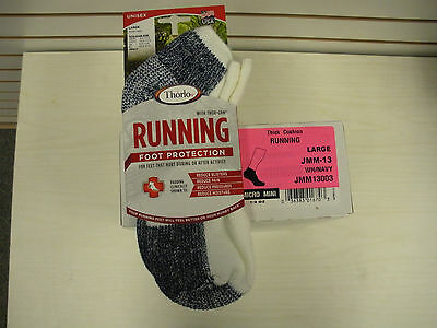 Thorlo 6 Pairs -Jmm-13 Mens Micro Mini Thick Cushion Running Socks- Mens 9 -12.5