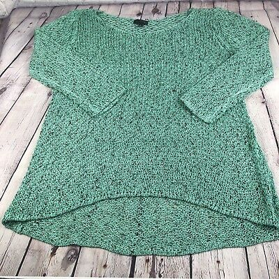 NWOT The Limited Women's Seafoam Knit Blouse Black Accents Size XL