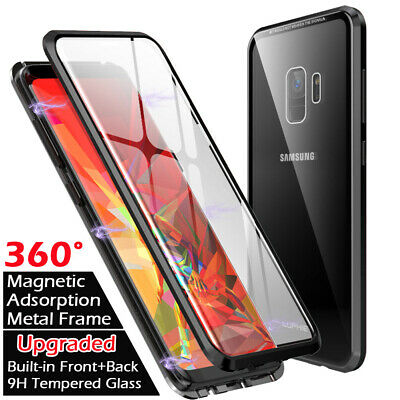 Tempered Glass Screen Film Magnetic Adsorption Case For Samsung S9 Plus Note 9