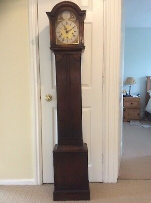 Antique Oak Grandmother Clock