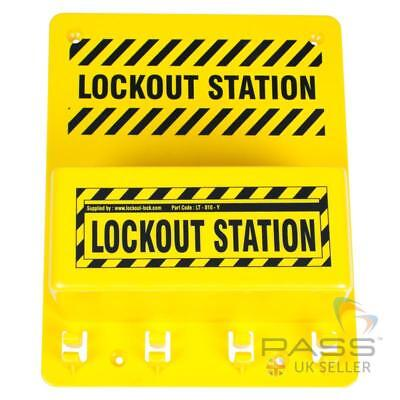 Compact Lockout Tagout Station 8 inch x 10 inch - No accessories