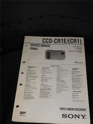Service Manual  Sony  CCD-CR1E/(CR1)