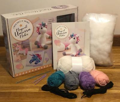 Magical Unicorn Makes Crochet Kit With Book + Instructions For 8 Other Projects