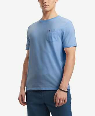 $115 Tommy Hilfiger Men Blue T-Shirt Pocket Logo Crew-Neck Short-Sleeve Tee Xl